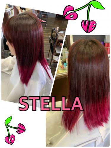 夏ヘア pink♡